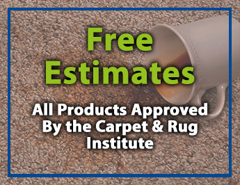Free Estimates, All Products Approved By the Carpet & Rug Institute